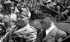 Benito Mussolinis (kairėje) ir Adolfas Hitleris