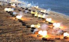 Šiaurės Korėjos artilerijos pratybos