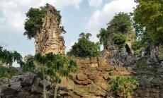 Palaidotų šventyklų liekanos Kambodžoje