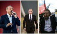 R. T. Erdoganas, V. Putinas, A. Duginas