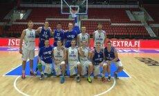 Lietuvos U20 rinktinė su Suomijos komandos apranga