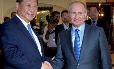 Kinijos ir Rusijos prezidentai Xi Jinpingas bei Vladimiras Putinas