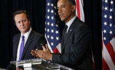 David Cameron, Barack Obama