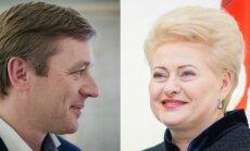 Ramūnas Karbauskis and Dalia Grybauskaitė