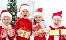 vaikai, dovanos, Kalėdos, eglė, nykštukai