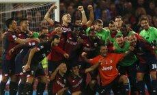 Genoa futbolininkai džiaugiasi pergale