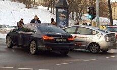 Seimas Speaker Viktoras Pranckietis got into a minor accident