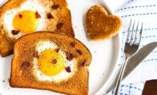 Kiaušinis duonos riekėje
