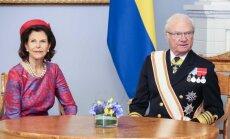 Švedijos karalienė Silvija ir karalius Karlas XVI Gustavas