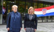 Kroatijos prezidentė Kolinda Grabar–Kitarovič su Lietuvos prezidente Dalia Grybauskaite