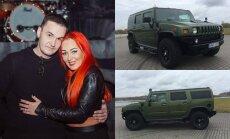Elegijus Strasevičius, Džordana Butkutė, visureigis Hummer H2