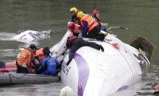 Avariniu būdu leidosi ir sudužo TransAsia lėktuvas