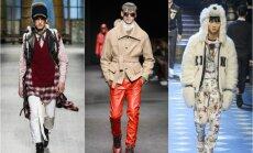 Vyrų mados savaitė Milane: nuo įžimybių ant podiumo iki karvės odos švarkų