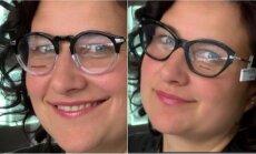 Stilistė rinko akinius merginoms