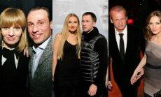 Andrius Kandelis su buvusia žmona Milda, Eleonora Sebrova ir Egidijus Dragūnas, Laimutis Pinkevičius ir Asta Valentaitė