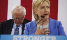 Hillary Clinton, Bernie Sandersas