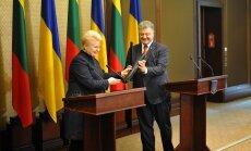 President Dalia Grybauskaitė and Ukrainian President Petro Porošenko