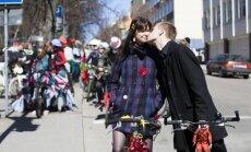 """Meninių dviračių paradas """"CO2 Green Drive"""" Vilniuje"""