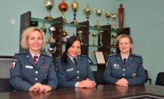 Viešosios policijos skyriaus Antrojo poskyrio viršininkė Rasa Kaminskienė (iš kairės), tyrėja Eglė Keturkienė ir Bendruomenės pareigūnų grupės vyriausioji specialistė Renata Gustaitienė