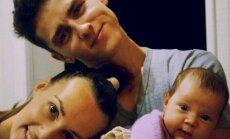 Donatas Montvydas su žmona ir dukra