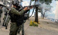 Policijos ir protestuotojų susirėmimai Venesueloje