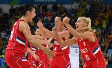 Serbijos krepšininkės seserys Ana (k) ir Milica Dabovič