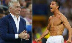 Didier Deschampsas ir Cristiano Ronaldo (Reuters/Scanpix nuotr.)