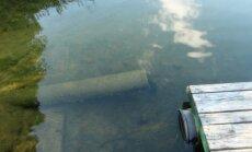 Vamzdis Lušikščio ežere