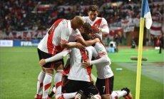 River Plate futbolininkai džiaugiasi