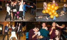 Studentų šėlionės naktiniame Vilniuje