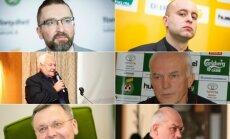 Dvi LFF karo stovyklos: kairėje - Edvinas Eimontas, Gintautas Žemaitis, Gediminas Daukšys, dešinėje - Nerijus Dunauskas, Stasys Stankus, Vidmantas Butkevičius