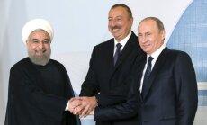 V. Putinas, I. Aliyevas ir H. Rouhani