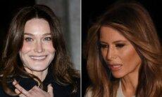 Carla Bruni Sarkozy ir Melania Trump