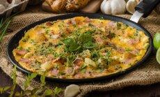 Sotusis omletas su kumpiu ir bulvėmis
