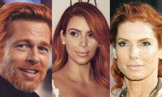 Bradas Pittas, Kim Kardashian, Sandra Bullock