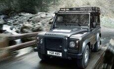 Land Rover Defender gamyba nutraukta sausį