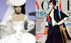 Manekenės Ditės Antanaitytė (J. Statkevičiaus kolekcija) ir Julija Steponavičiūtė (Vogue Hellas viršelis)