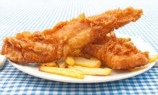 Traški žuvis pagal tradicinį anglų receptą