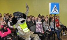 Saugaus eismo pamoka Šilutės rajono pradinukams