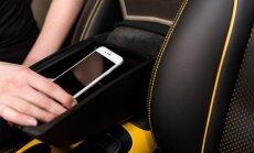 Nissan dėklas-porankis, blokuojantis mobiliuosius telefonus
