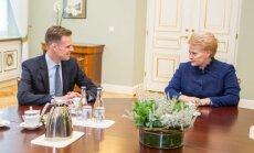 Gabrielius Landsbergis, Dalia Grybauskaitė