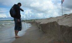 Po neblogos audros liepos viduryje Palangos paplūdimys atrodė taip