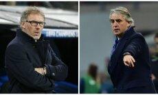 Laurent'as Blanc'as ir Roberto Mancini (Reuters/AFP nuotr.)