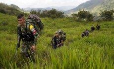 FARC kovotojų stovykloje