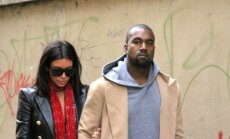 Kim Kardashian ir Kanye Westas Prahoje