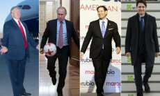 Donaldas Trumpas, Vladimiras Putinas, Marco Rubio ir Justinas Trudeau