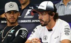 Lewisas Hamiltonas ir Fernando Alonso
