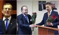 Romanas Levinskas (kairėje), Romas Pikčilingis, Sergejus Sliva