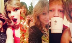 Taylor Swift, Sarah Hyland, Hailee Stenfield ir Ed Sheeran