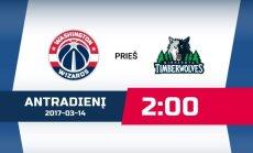 Minesotos Timberwolves - Vašingtono Wizards (DELFI NBA)